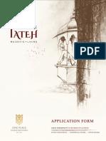 Application Form - The FATEH - Designed