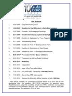 Time Schedule Exhibitors