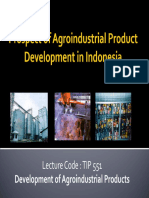 Prospect of Agroindustrial Product Development in Indonesia