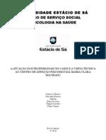 TRABALHO CAPSI - PSICOLOGIA NA SAÚDE -  AV2