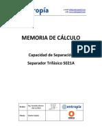 Capacidad de Separación - Separador Trifásico según API 12J