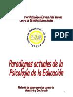 Paradigmas Actuales de La Psicología de La Educación