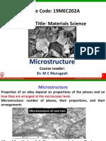 (1) Microstructure