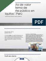 Propuesta de Valor Para Sistema de Transporte