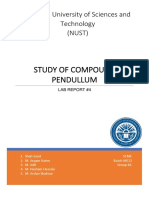 Study of Compound Pendulum