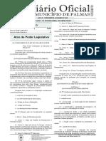 Lei Do Plano Diretor de Palmas atualizada