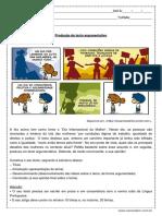 Atividade de Portugues Producao de Texto Argumentativo 1º Ano Do Ensino Medio PDF
