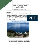 Informe Monitoreo Agua Taquile