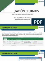 Diapositivas Nivel Intermedio - Excel IV