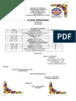 Class Program 9
