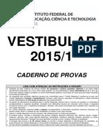 Prova e Gabarito IFG 2015 1.