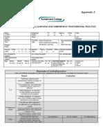 Appendix 3 - Evaluation of TLA Professional Practice
