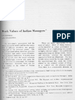 Work Values of Indian Managers