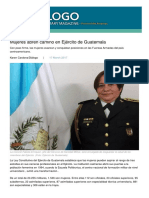 Oficiales femeninos del Ejercito de Guatemala