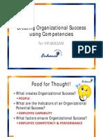 Creating Organizational Effectiveness Using Competencies