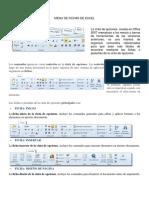 Menu de Fichas de Excel,Word y Power Point 2019
