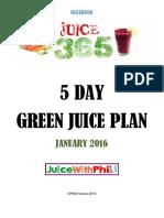 5 Day Green Plan 2016