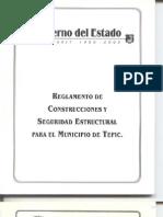 Reglamento de Construccion y Seguridad Estructural Del Municipio de Tepic