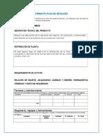 Formato de (plan de negocio)
