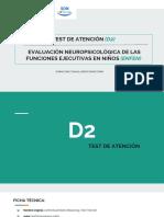 Explicación tests D2 y Enfen
