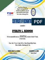 Meritorious Certificate