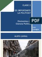 Clase 02 - Por Qué Es Importante La Política