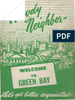 Howdy Neighbor Welcome to Green Bay - 1956