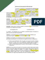 Contrato Para Asociacion en Participación (Modelo)
