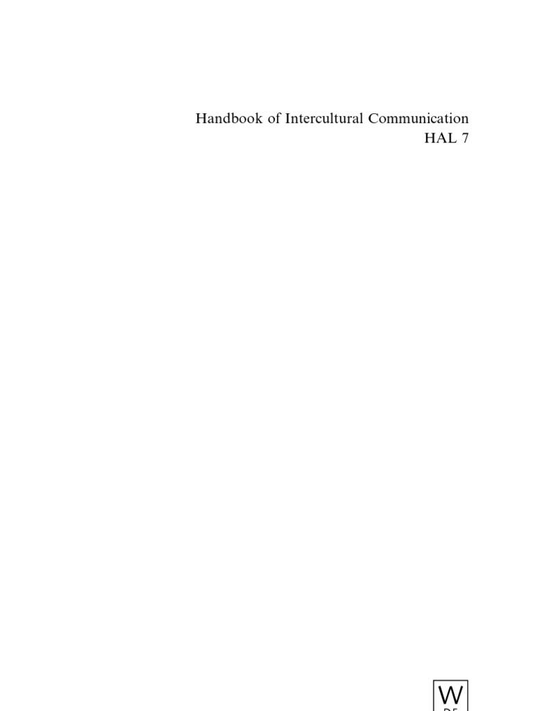 Handbook of Intercultural Communication - Kotthoff, Helga, Oatey ...