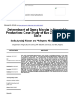 Determinant of Gross Margin in Vegetable Production_ Case Study of Iwo Zone of Osun State
