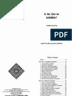 Abd Al-Fadi - Is the Quran Infallible