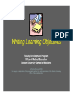 Writing Learning Objectives We Bfd