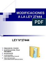 LEY 27444 y Sus Modificatorias