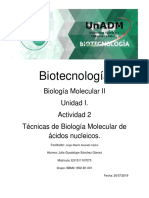 Tecnicas de Biologia Molecucalr ADN
