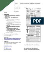 Biogeochemical Newspaper Project