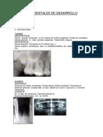 Anomalias Dentales de Desarrollo