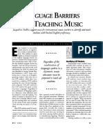 Language Learning Enhanced by Music and Song Hilda F Israel Nelson Mandela Metropolitan University