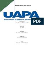 Automatización Industrial - Introduccion a La Automatizacion- Tarea 1