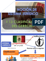 Sistema Jurídico y Clases del Derecho