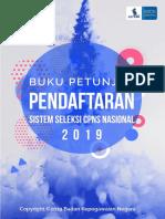 BUKU PENDAFTARAN SISTEM SELEKSI  CPNS NASIONAL 2019
