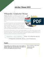 Wikipedia Asiatischer Monat 2019