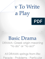 A - How to Write a Play