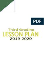 Third Graing Lesson Plan
