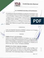 Convocatoria al VI Congreso Nacional extraordinario de Morena