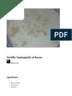 Receta Tortilla Santiagueña Al Horno