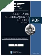 Politica de Endeudamiento Publico 2014-2017