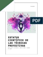 Estatus científico  de  las pruebas proyectivas
