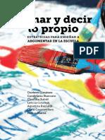 Opinar y Decir Lo Propio, de Gustavo Giménez et alt.