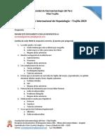 Examen de Curso Internacional de Hígado - Trujillo 2019