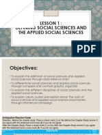 2-LESSON 1_Defining Social Sciences and the Applied Social Sciences